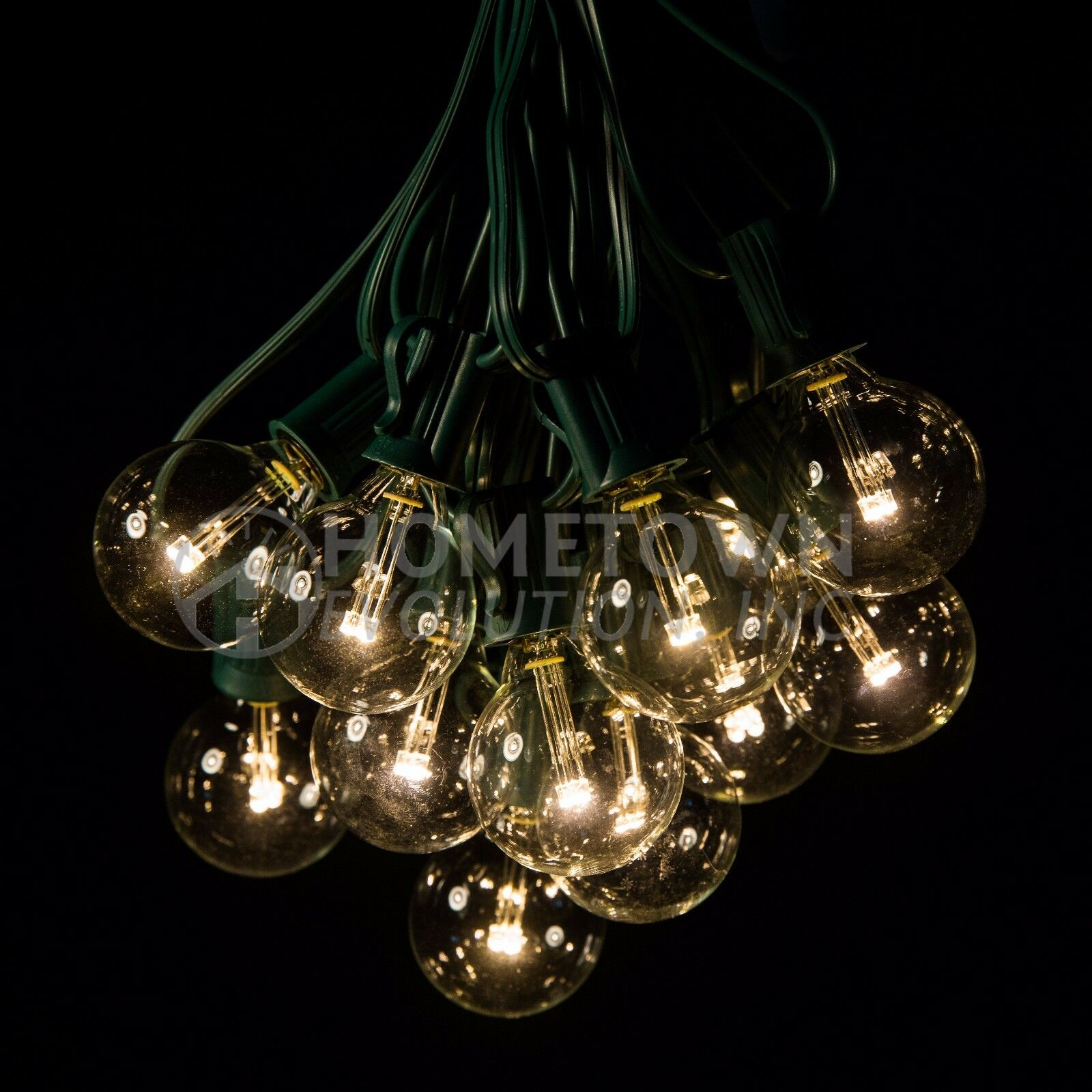 100 Foot - G30 G40 and G50 Globe String Lights Lights Lights for Backyards Parties and more 30583d