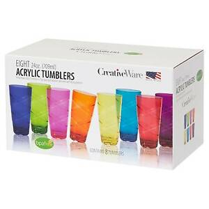 Image Is Loading Plastic Drinking Gles 8 16 Pc 24 Oz