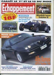 ECHAPPEMENT-n-320-01-05-1995-Essai-Course-MITSUBISHI-LANCER-Evo-III-ALFA-GTV-V6