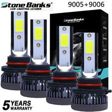 4pcs 9005 9006 Led Combo Headlight Kit Bulbs 8000k Ice Blue Cob High Amp Low Beam Fits 2002 Mitsubishi Eclipse
