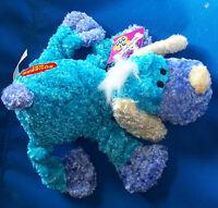 10 Soft Plush Dandee Play Fun Cool Squeak Krinkle Dog Toy Pastel 100% Polyester