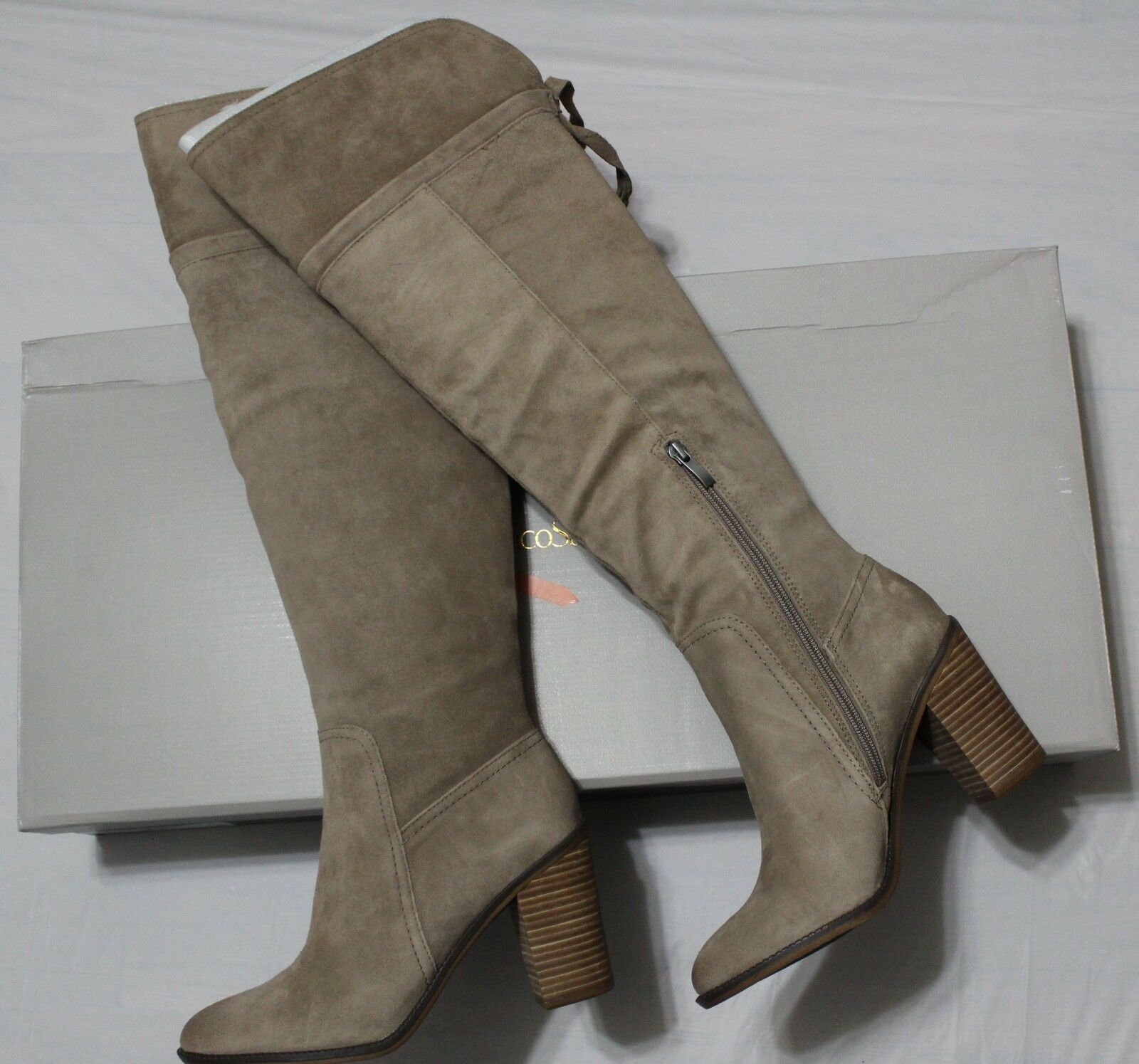 225 Franco Sarto Ellyn taupe taupe taupe daim Cuissardes démarrage US 10 m 491b0d
