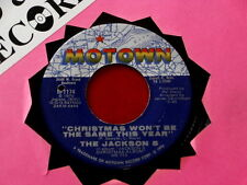 JACKSON 5~ CHRISTMAS WON'T BE THE SAME THIS YEAR~ VG++~SANTA CLAUS IS ~ SOUL 45