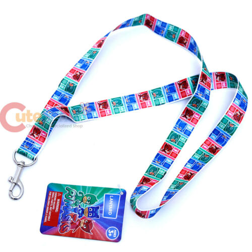 PJ Masks Lanyard ID Badge Holder Catboy Owelette Gekko Key Chian