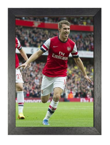8 Aaron Ramsey Photo Welsh Footballer Print Arsenal Wales Player Sports Poster