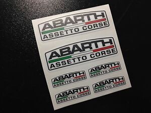 PEGATINAS-ABARTH-ASSETO-CORSE-ECO39-FIAT-500-STICKERS-AUFKLEBER-AUTOCOLLANTS-AD