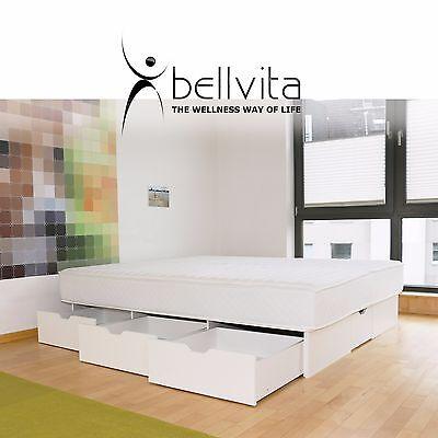 PüNktlich Hochwertiges Bellvita Dual Wasserbett Komplett Mit Schubladen Inklusive Montage! Eleganter Auftritt