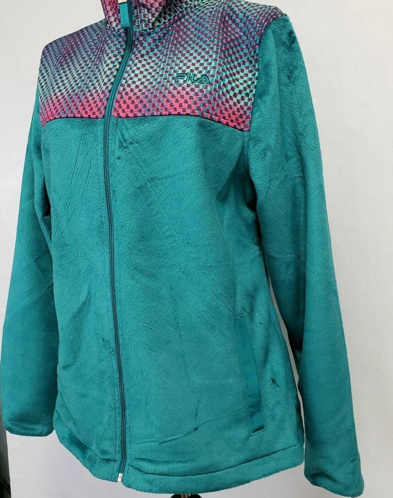 Fila Sport Womens Medium Zip up Fleece Track Jack… - image 6