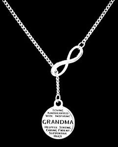 49a8fc7ca Grandma Necklace Gift Mother's Day Grandmother Nana Granny Lariat ...