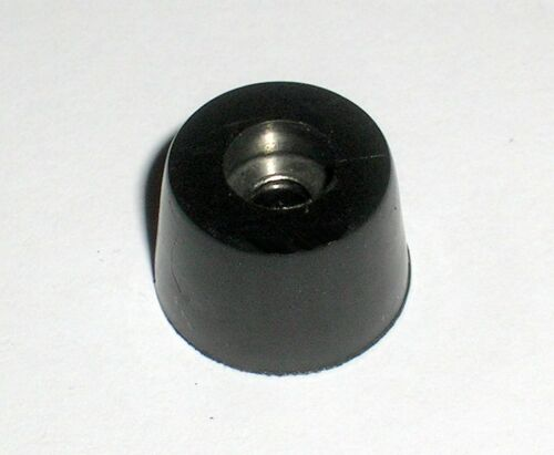25pcs Black Rubber Feet 15X12X7mm Internal Stainless Steel Washers