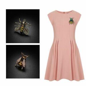 hemd-kragen-dekor-schmuck-hummel-broschen-biene-insekt-pin-das-tier-metall