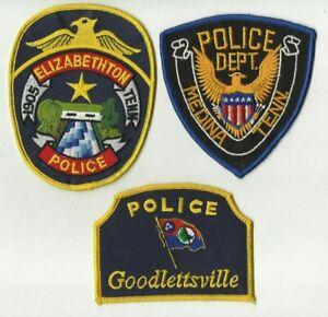 Elizabethtown-Goodlettsville-Medina-TENNESSEE-Police-Patches