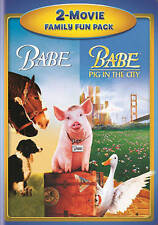 Babe 1 and Babe 2 Pig in the city DVD Movie Family Fun Pack Double Feature USED