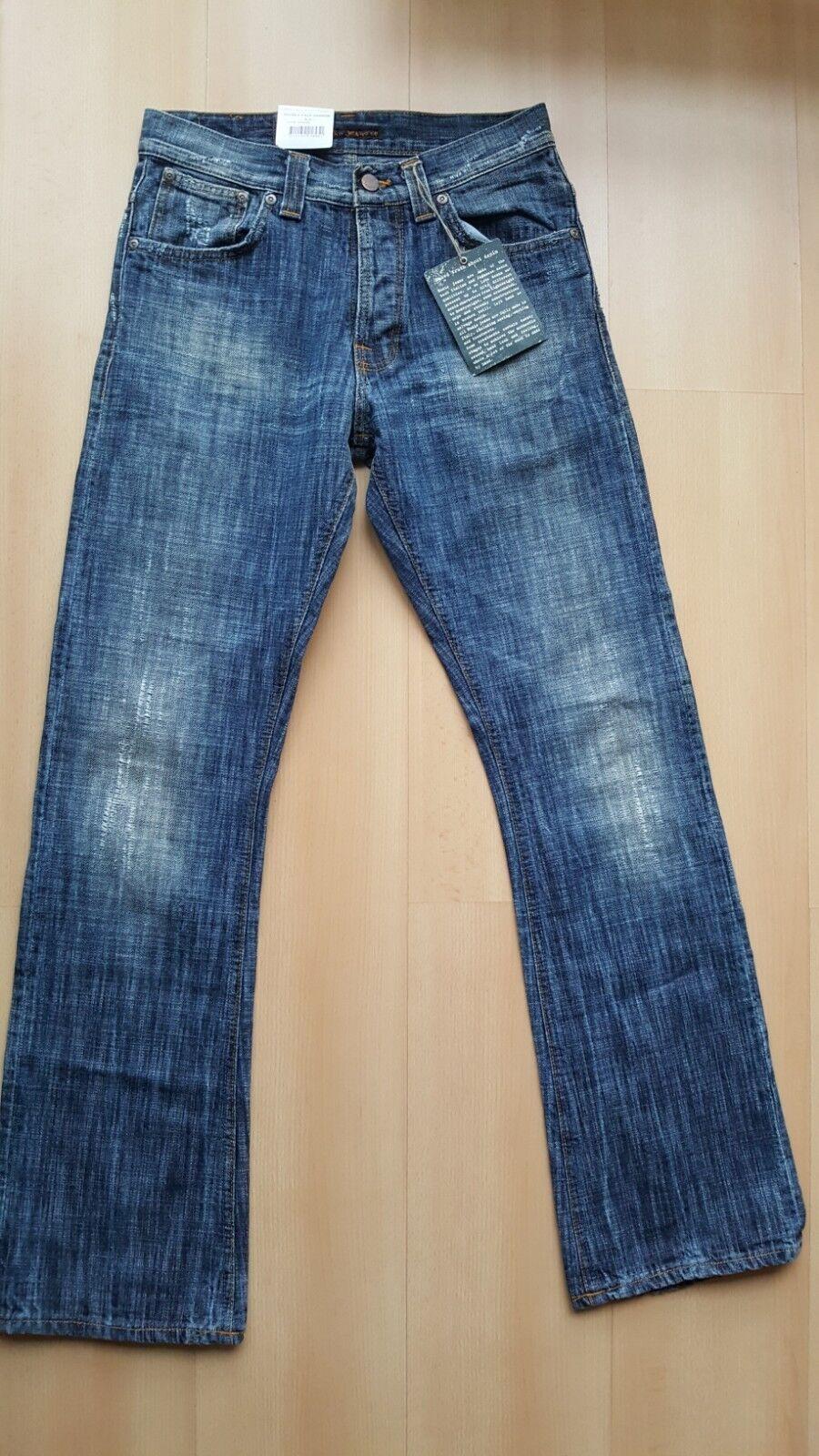 NUDIE Jeans Regular Ralf Double Face Damage Denim Trousers Unisex W29 L32