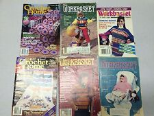 Lot Of Workbasket Crochet Home Magazines Patterns Afghans Doilies Sweaters Rugs