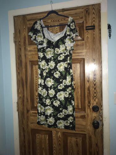 Unique Vintage Floral Dress! Size 2x