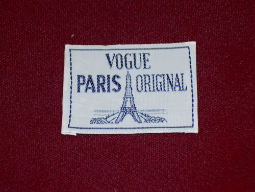 "VOGUE PARIS ORIGINAL - SEW IN CLOTHING LABEL NEW // OLD STOCK  1¼/"" x 2/"" EIFFEL"