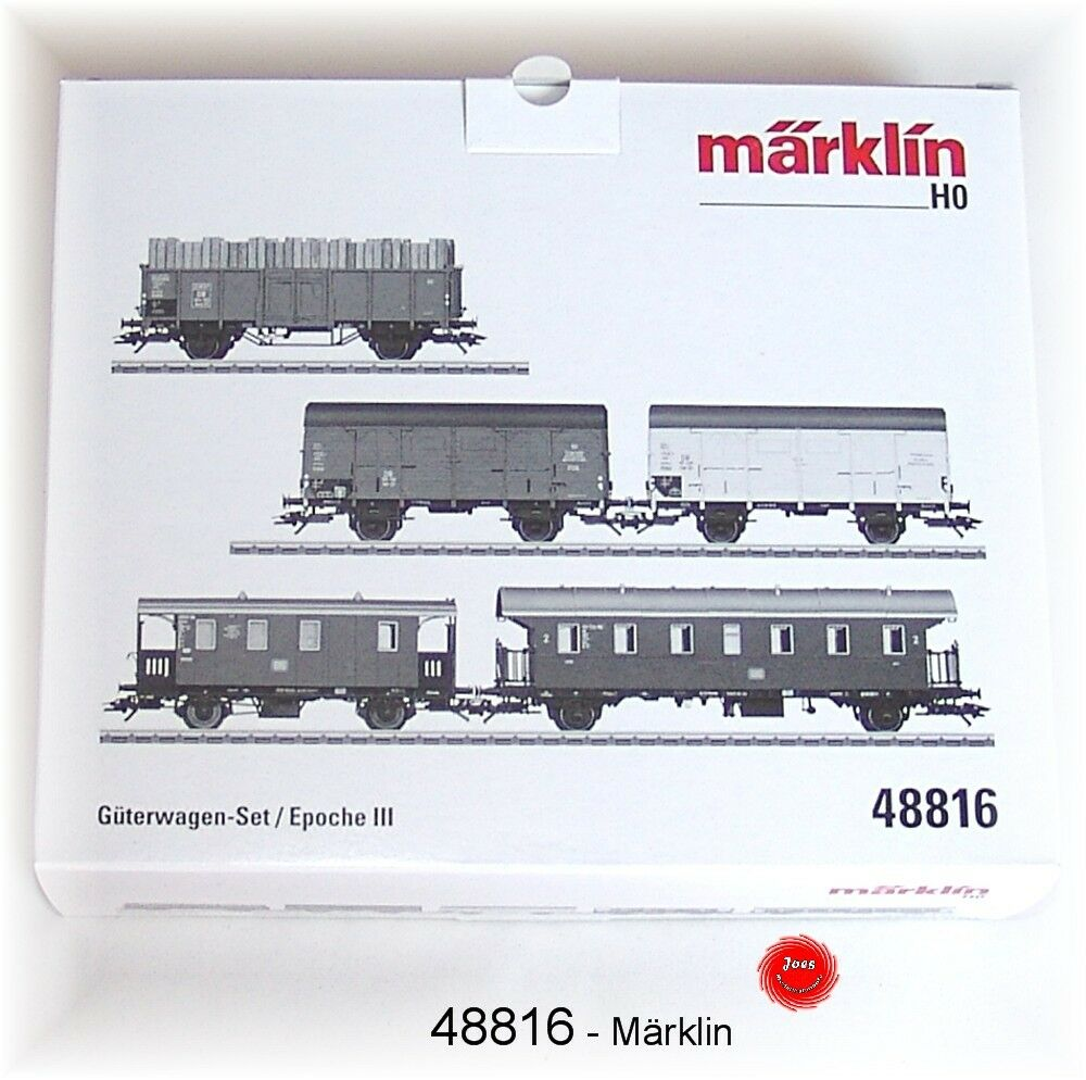Märklin 48816 carri merci-Set della DB 5 pezzi #neu in OVP #