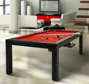 Image Is Loading LUXURY CONVERTIBLE DINING POOL TABLE Billiard Dining Desk