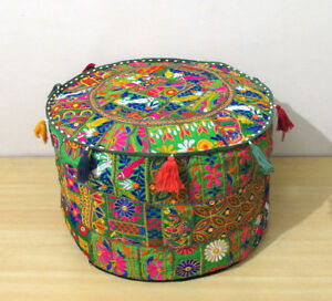 22-034-Vintage-Handmade-Ottoman-Pouf-Cover-Decorative-Footstool-Pouf-Seat-Covers