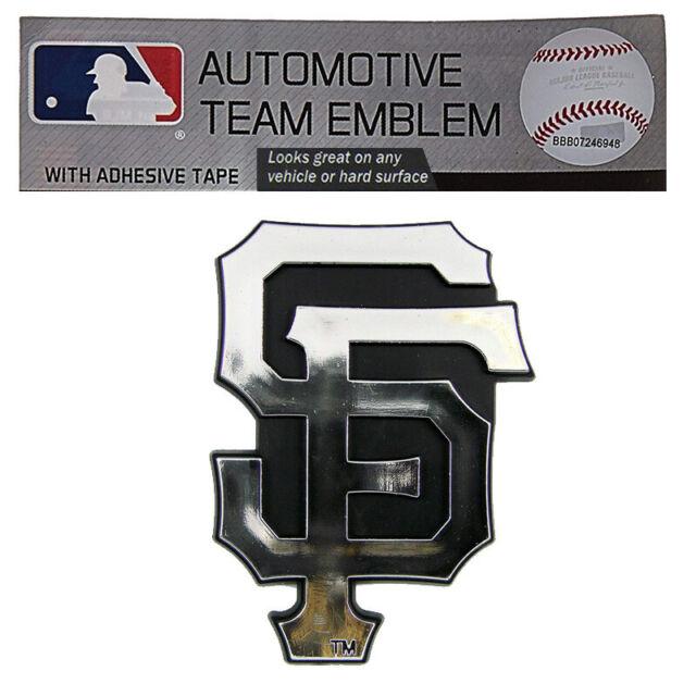 22426480 San Francisco Giants Logo Chrome 3d Automobile Emblem MLB