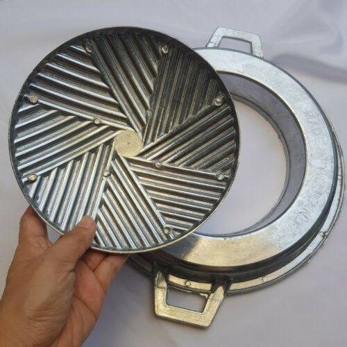 "Thai Korean BBQ Grill Pan 12/"" Easy Cleaning Aluminium Charcoal Gas Stove Picnic"