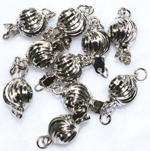 10pcs 8mm zinc alloy plated silver swirls clasps Accessories 18K GP