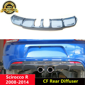 Scirocco-R-Diffuser-Carbon-Fiber-Rear-Lip-Middle-for-Volkswagen-2-0R-2008-14