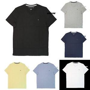 NEW TOMMY HILFIGER Men/'s Short Sleeve Crew Neck T-Shirt Tee Black Navy S M L XL