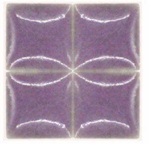 Inch PURPLE Ceramic Mosaic Tiles EBay - 3 inch square ceramic tiles