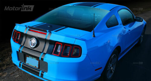"""2013 2014 Ford Mustang Over the Top Rally Racing Center 22/"""" Wide Stripes Decals"""