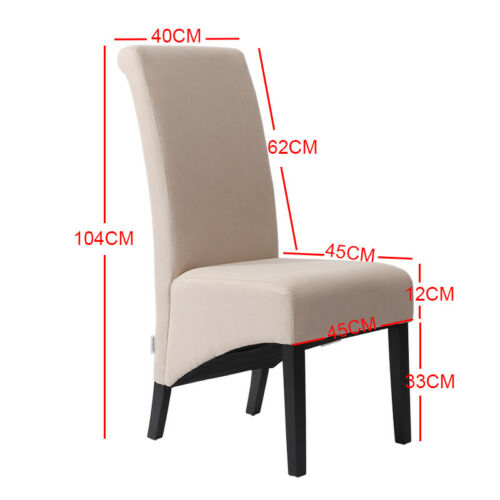 2Pcs Dinning Arm/Side Chairs Fabric Upholstered Chairs Kitchen Restaurant Chairs
