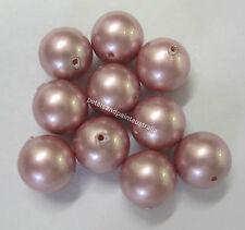 10 Swarovski Crystal Pearl Beads 8mm Bead Powder Rose Beading Jewellery SWK3603