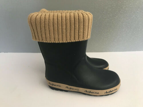 BNWT Little Boys Size 9 Rivers Doghouse Brand Navy Cuff Top Gumboots