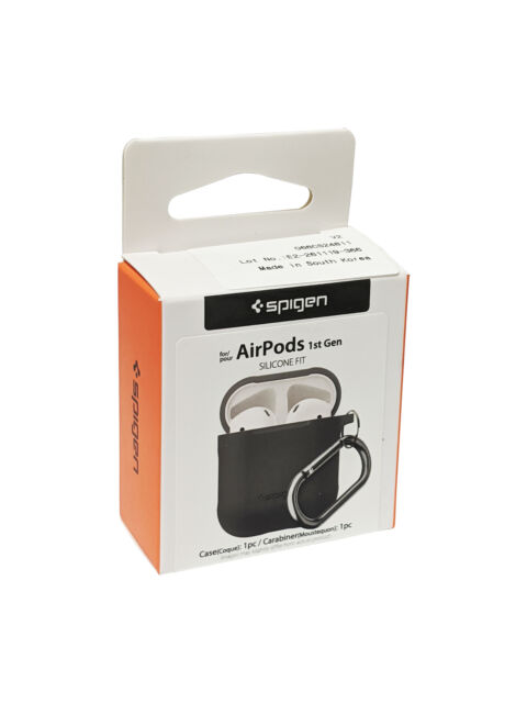 Spigen Silicone Fit Case For Apple Airpods 1 2 Charcoal For Sale Online Ebay
