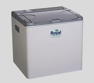 Royal 42L 3 Way Portable Cooler Fridge Cool Box For Caravan Camping 12V/230V/Gas