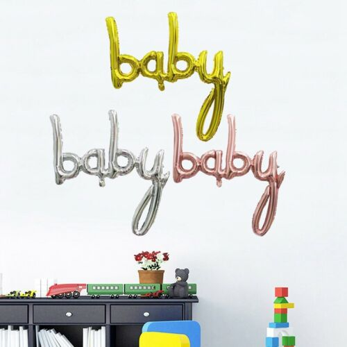 Baby Letters Kit Aluminum Foil Balloons Baby Shower First Birthday Decoratio #XU