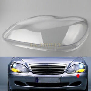 E-Most Headlight Headlamp Clear Lens Plastic Shell Cover For Mercedes Benz W220 S350 S600 2000-2006