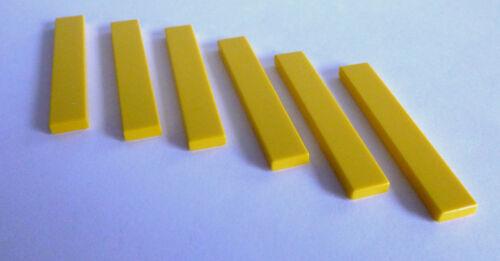 6 x LEGO® 6636 Systemstein,Fliesen//Kacheln in 1x6 gelb Neuware