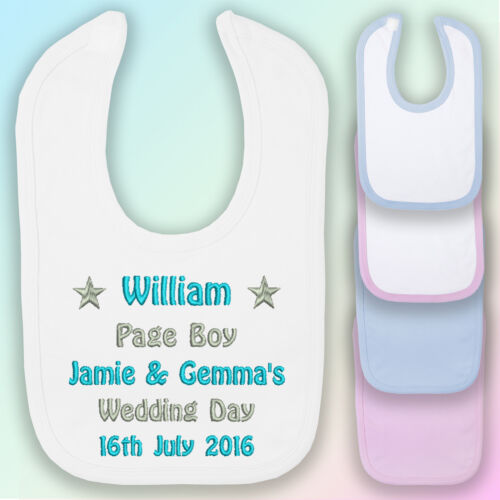 My Naming Day Embroidered Baby Pull-Over Bib Gift Personalised