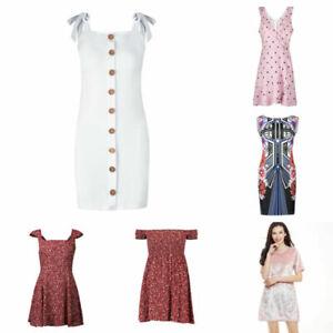 Womens-Bodycon-Dress-Tunic-Smock-Dress-Sheath-Dress-Casual-Gallus-Sleeveless