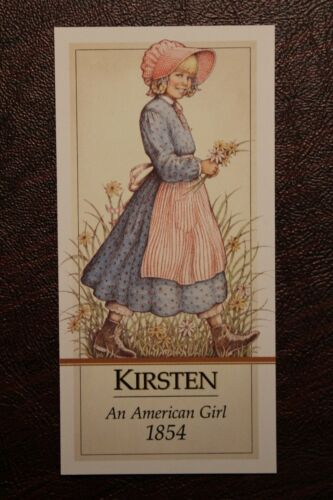 Authentic American Girl PLEASANT COMPANY KIRSTEN DOLL BOOKMARK PARTY FAVOR NEW
