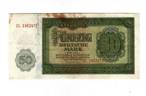 XXX-Rare-genuine-50-Mark-banknote-1948-east-sector-USSR-occupation-fine-con