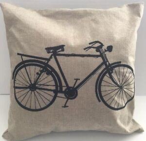 Vintage-Bike-Pillow-15x15-Square-Cover-Case-Accent-Decorative-Designer-Stylish