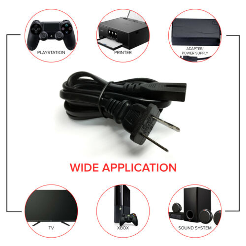 Polarized AC Power Cord Cable Connector for Sony ZS-RS60BT Bluetooth Boombox