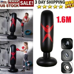Adult Standing Boxing Punching Bag Inflatable Stand Martial Training Fitness