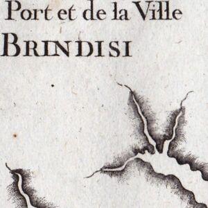 Carte-Geographique-XVIIIe-Brindisi-Puglia-Brindes-Italie-1764