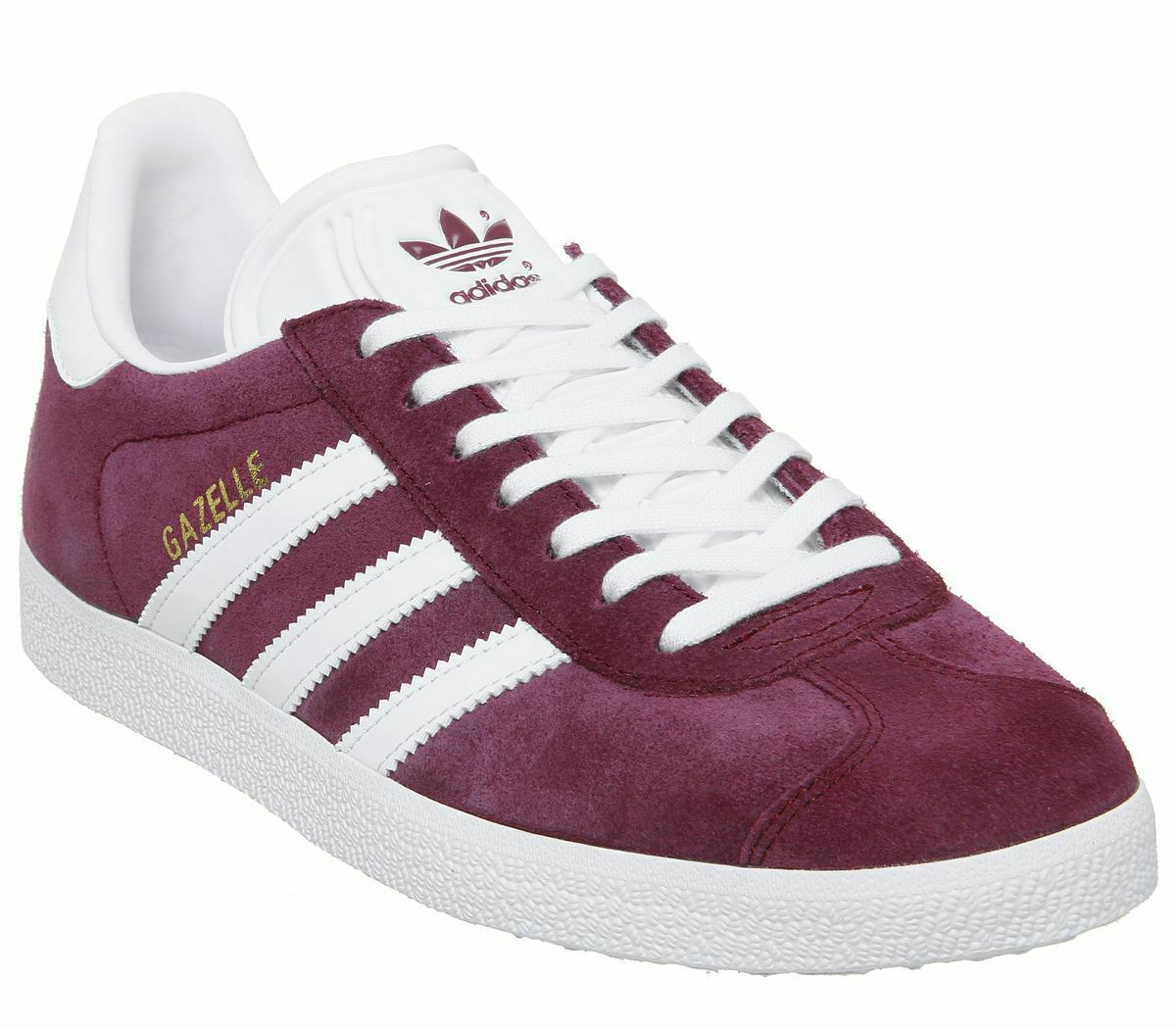 Mens Adidas Gazelle Trainers Collegiate Burgundy Trainers schuhe