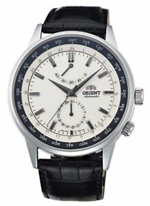 NWT ORIENT Classic Automatic World Time Power Reserve Watch White SFA06003Y