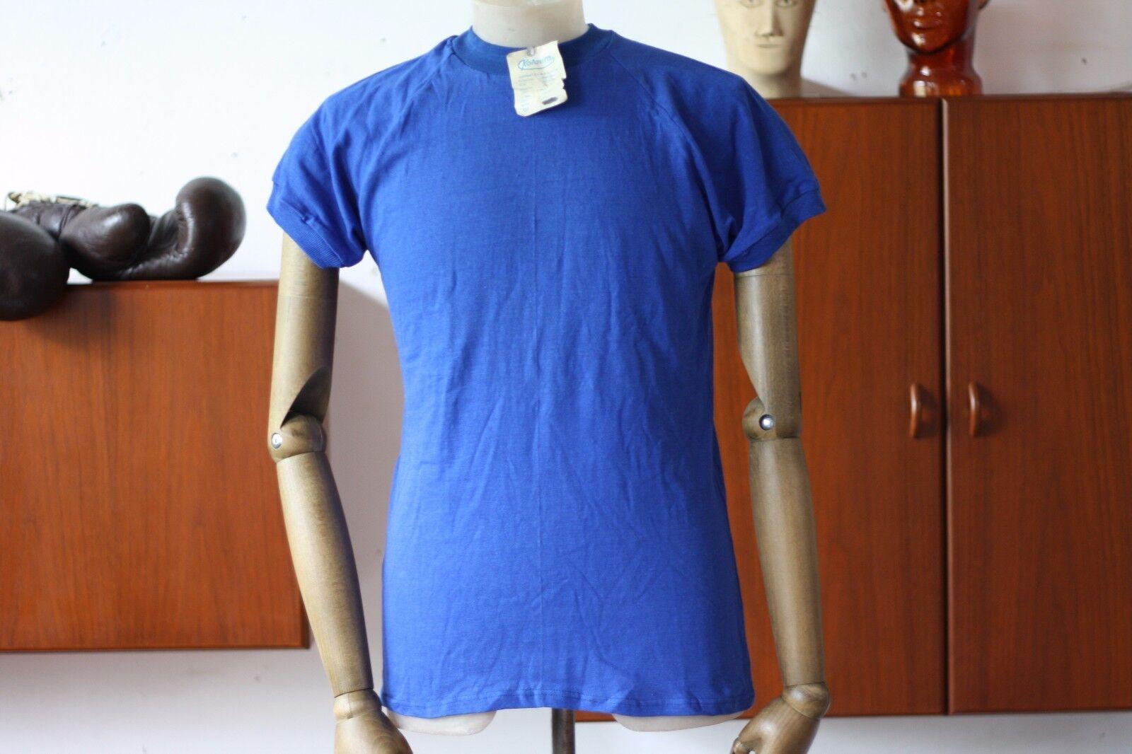 VEB Kotaura DDR VINTAGE Trikot Spielerhemd blau TRUE VINTAGE DDR 70s sports shirt Blau GDR 454c31